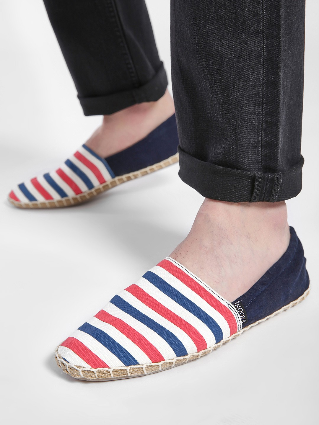 KOOVS Multi Horizontal Stripe Elasticated Espadrilles 1