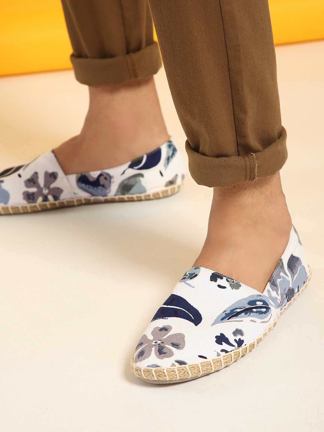 KOOVS Multi Tropical Leaf Print Espadrilles 1