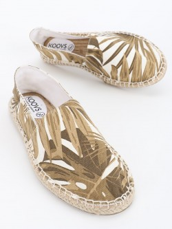 KOOVS Tropical Palm Print Original Espadrilles