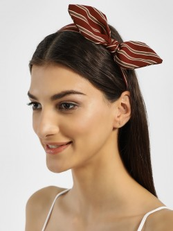 VOODOO VIXEN Multi-Stripe Bow Headband