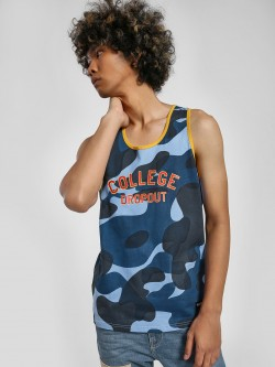 Fighting Fame College Dropout Camo Print Vest