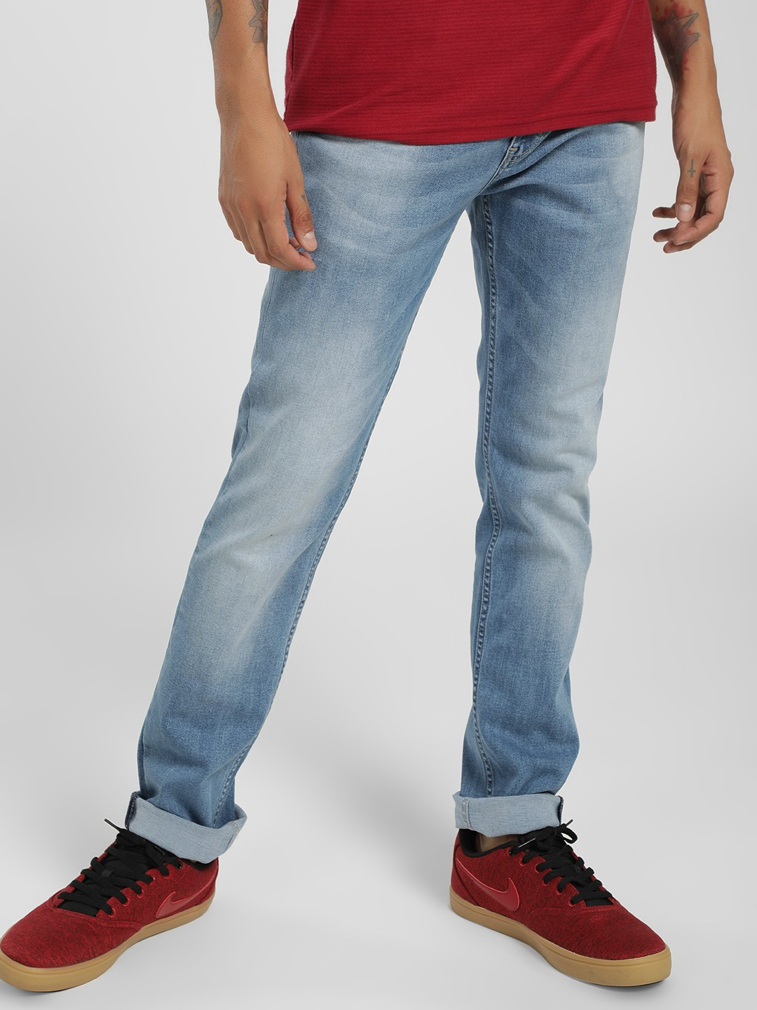 Lee Cooper Blue Light Wash Slim Jeans 1