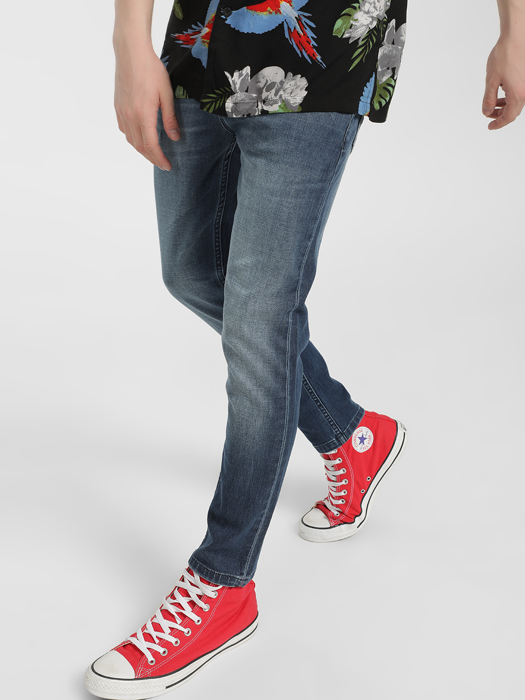 Lee Cooper Blue Light Wash Cropped Slim Jeans 1