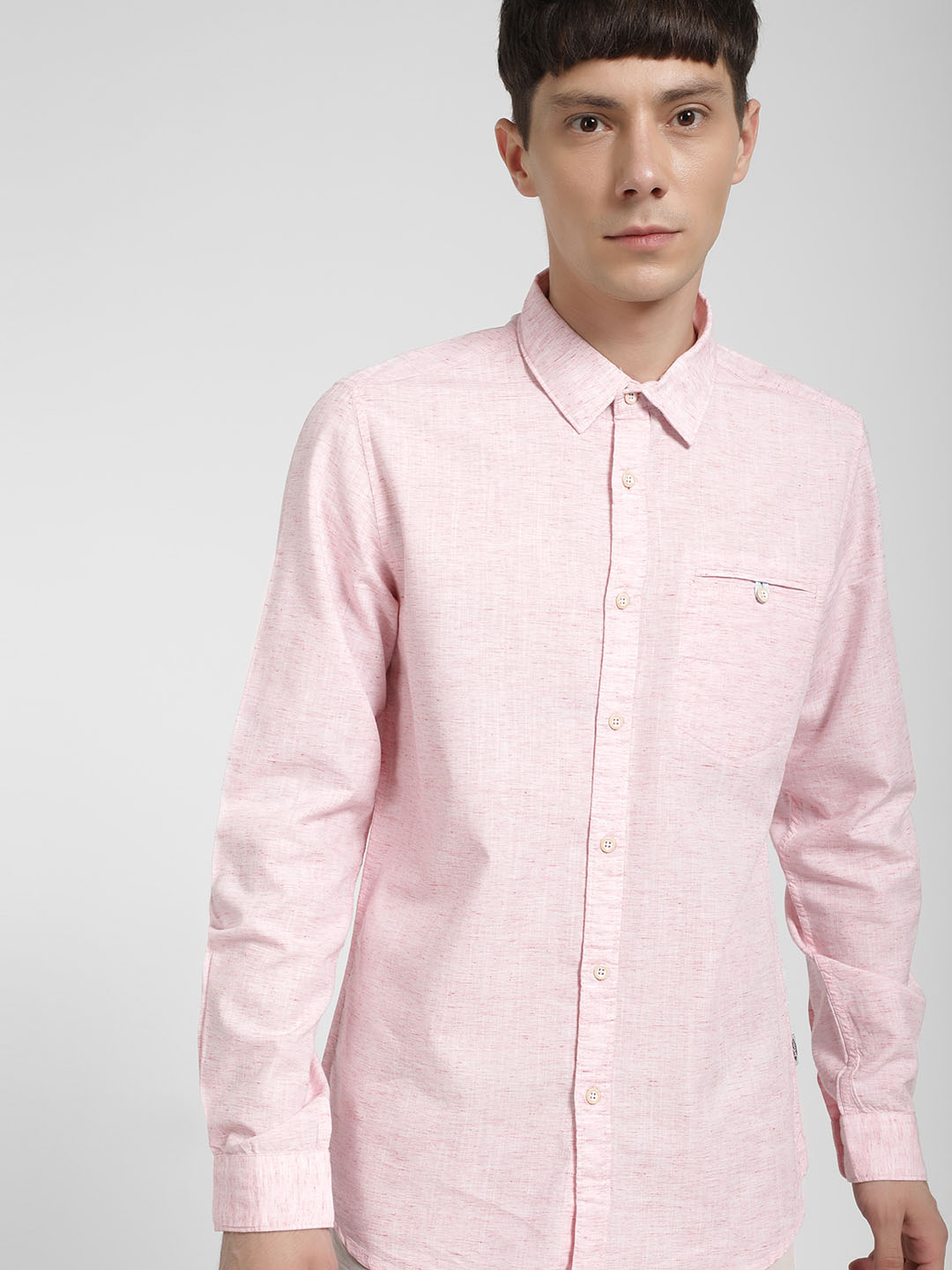 Lee Cooper Pink Woven Casual Shirt 1