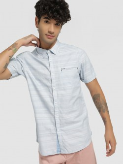 Lee Cooper Horizontal Stripe Short Sleeve Shirt