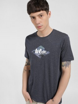 Lee Cooper Melange Placement Print T-Shirt