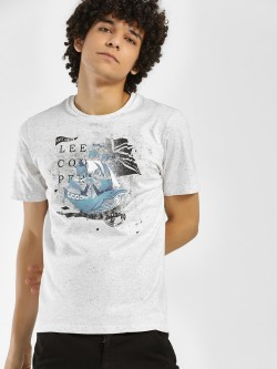 Lee Cooper Sailor Placement Print T-Shirt