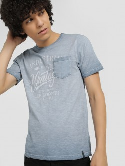 Lee Cooper Ombre Placement Print T-Shirt