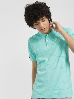 Lee Cooper Splatter Print Polo Shirt