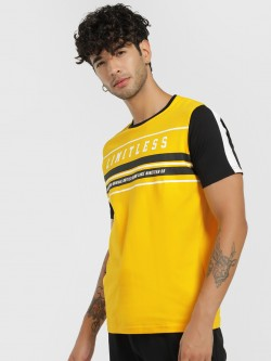 Lee Cooper Round Neck Slogan Patched T-Shirt