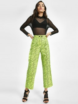 Miss Toxic Snake Print High Waist Trousers