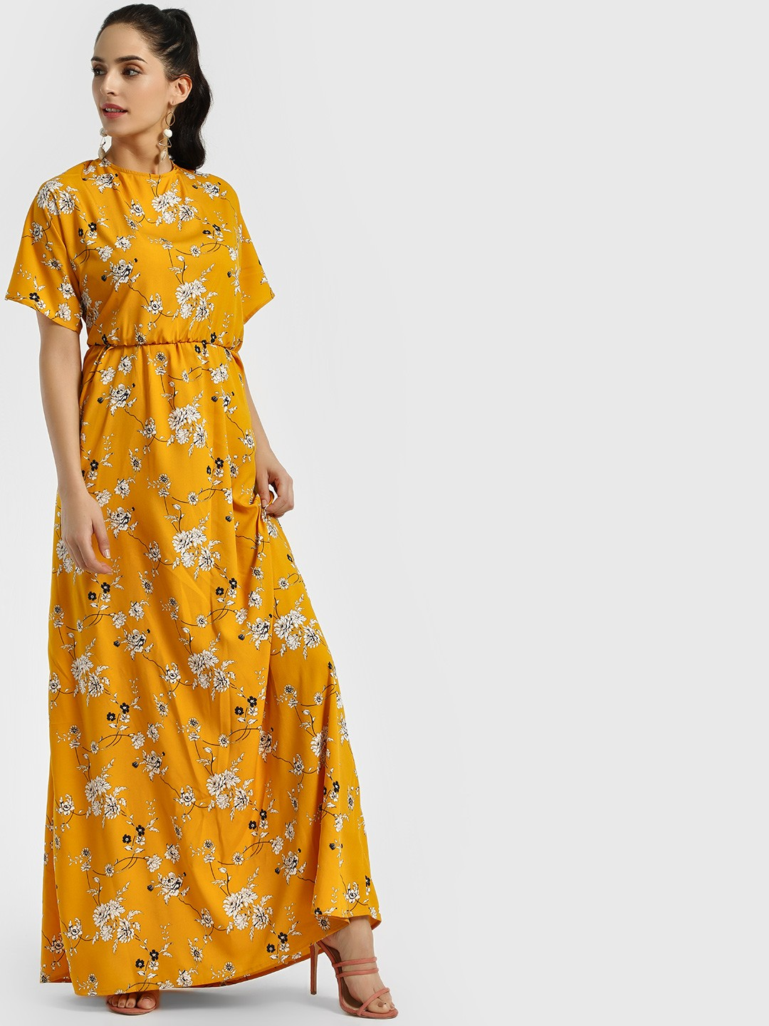 The Gud Look Multi Floral Print Backless Maxi Dress 1