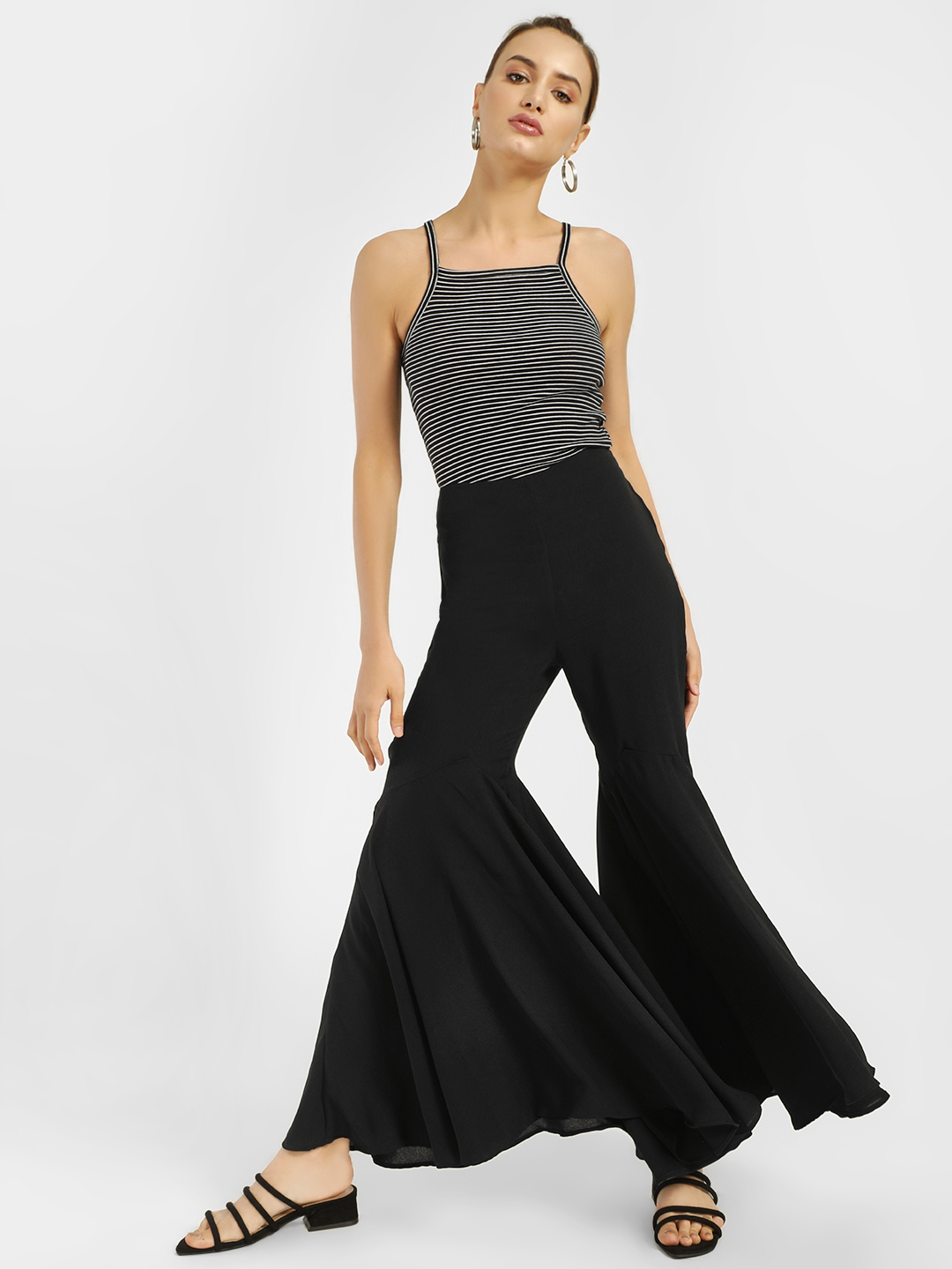 Oliv Black Extreme Flared Trousers 1