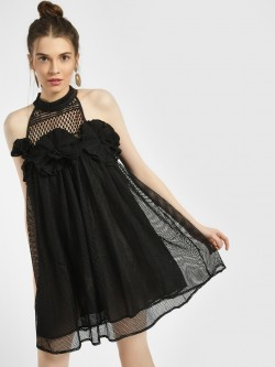 JJ's Fairyland Crochet Applique Lace Shift Dress