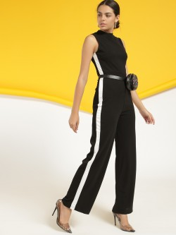 Ax Paris Contrast Side Tape Jumpsuit