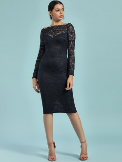 Ax Paris Lace Off-Shoulder Bodycon Dress