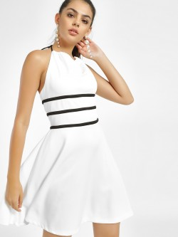 MIWAY Halter Neck Mini Skater Dress