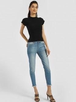 Blue Saint Light Wash Cropped Skinny Jeans