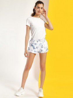 Blue Saint Tie & Dye Print Roll-Up Shorts