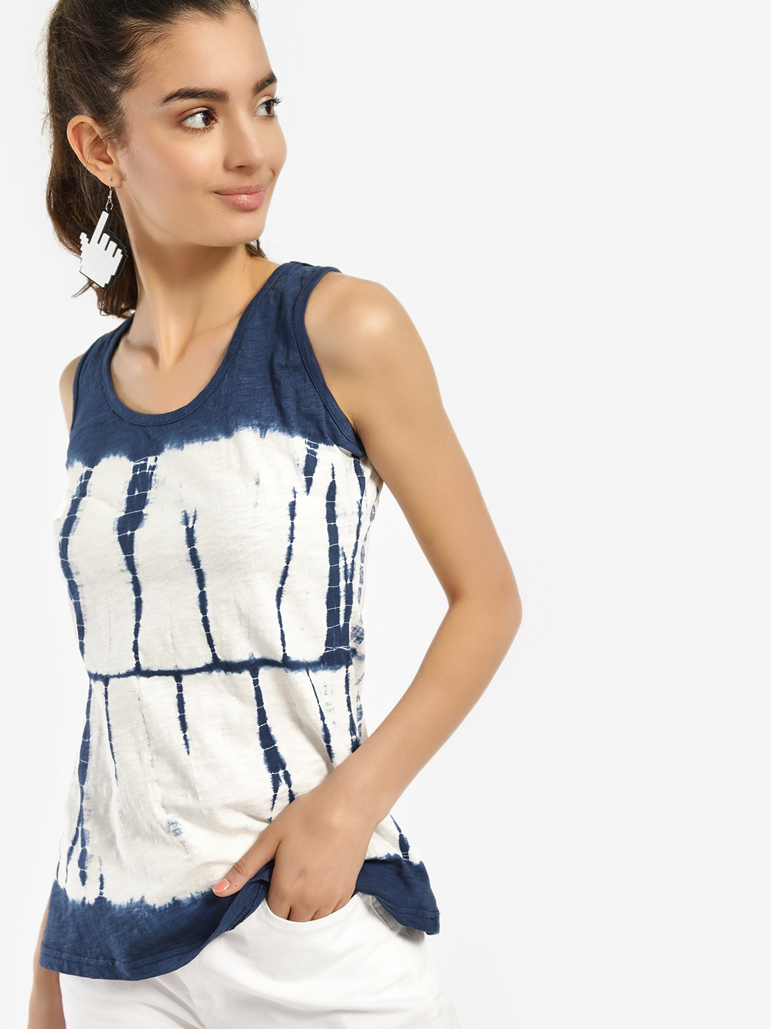 Blue Saint Multi Tie & Dye Print Tank Top 1