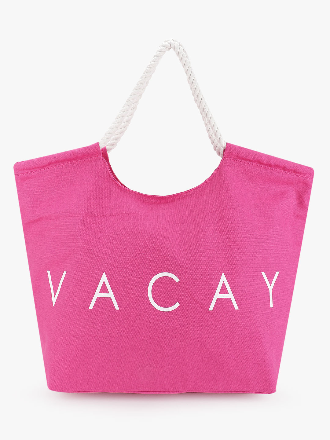 South Beach Pink Vacay Print Tote Bag 1