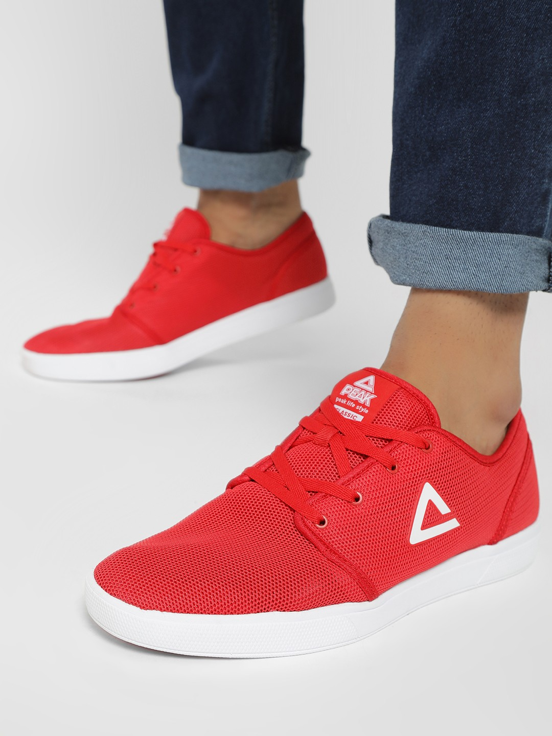 Peak Red Honeycomb Mesh Logo Trainers 1