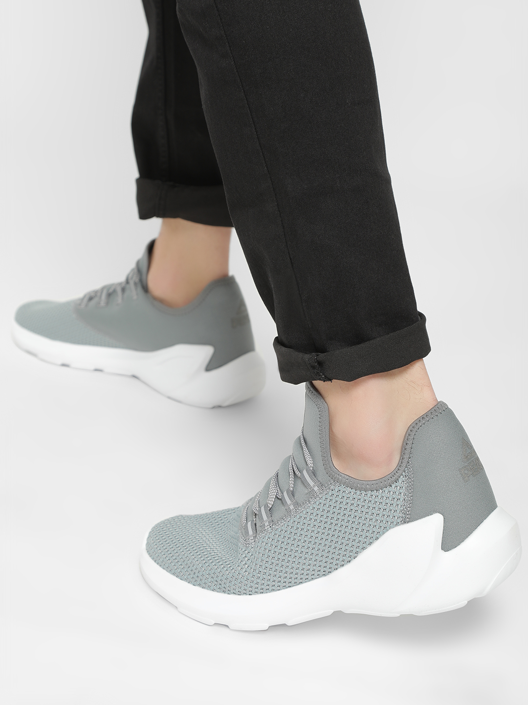 Peak Grey Knitted Basketball Shoes 1
