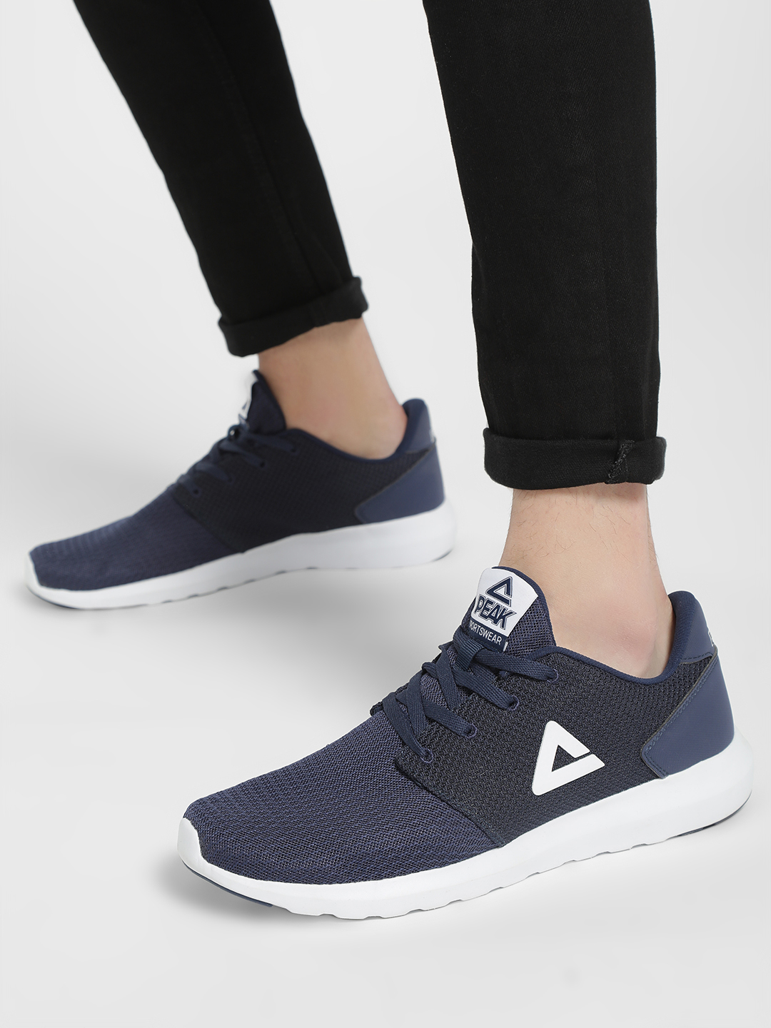 Peak Blue Honeycomb Mesh Logo Trainers 1