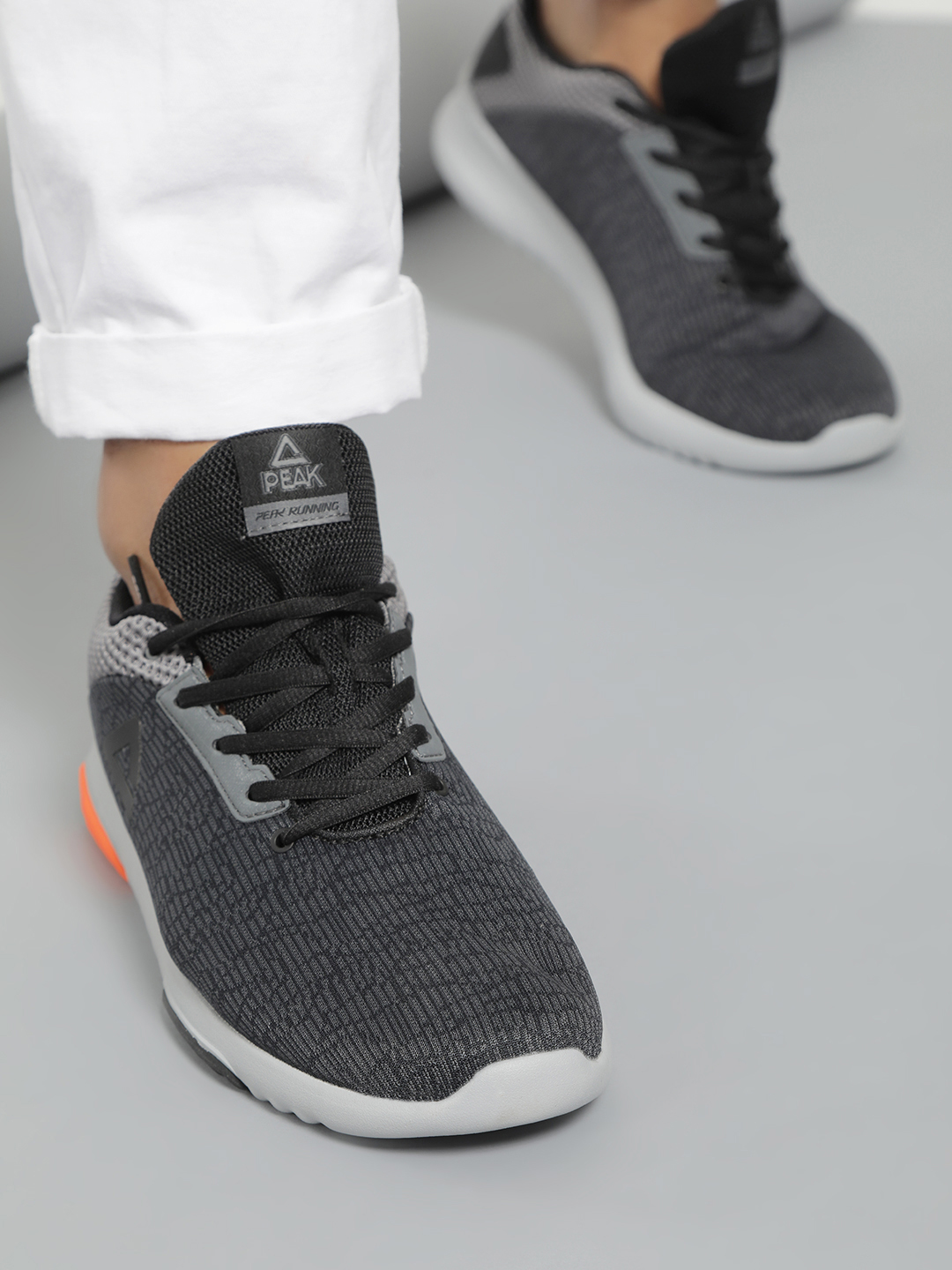 Peak Grey Double Knit Running Shoes 1