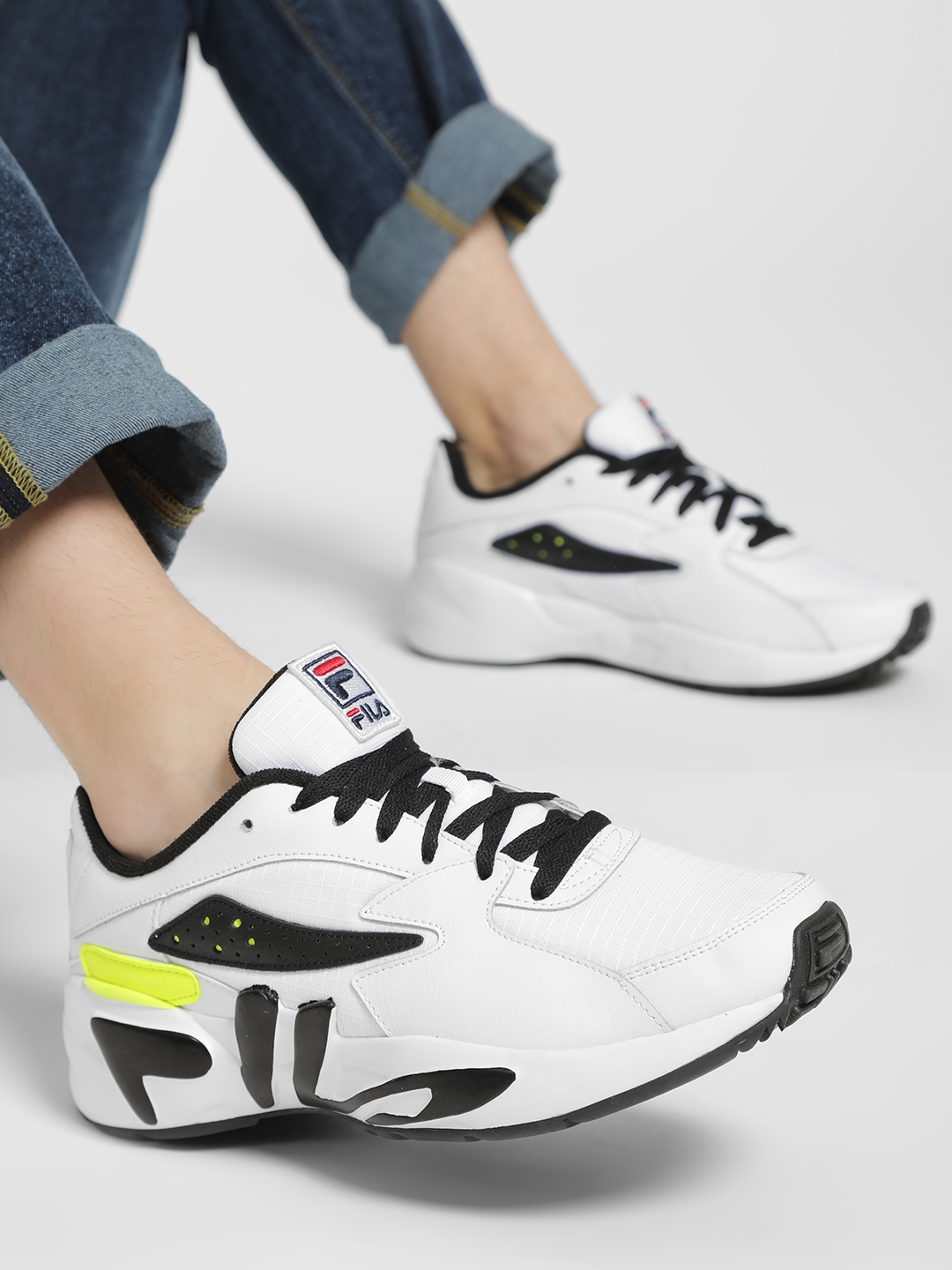 Fila White Mindblower Colour Block Panelled Shoes 1