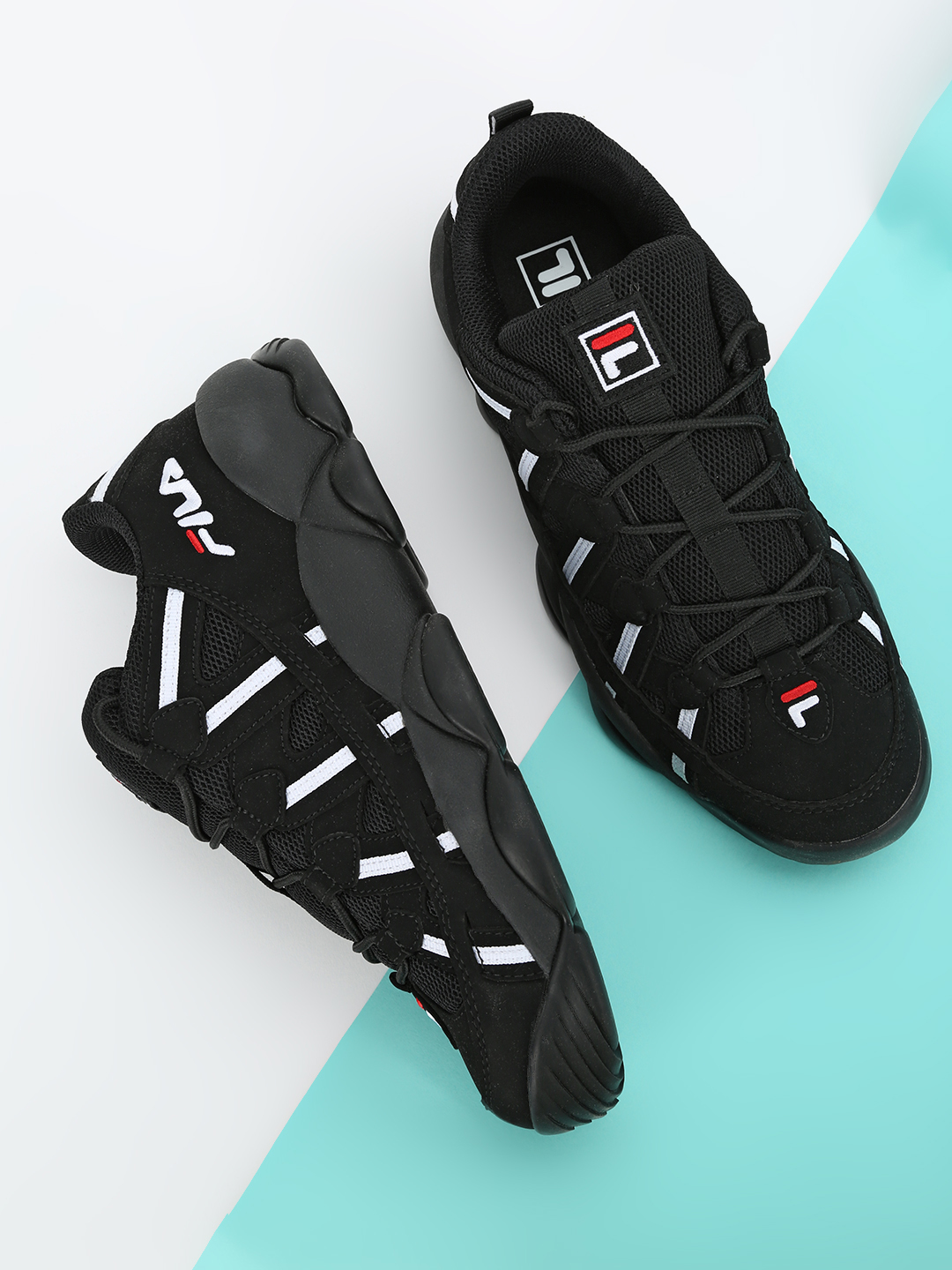 Fila Black Spaghetti Low Trainers 1