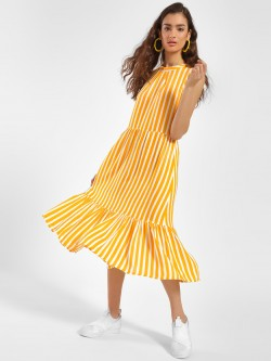 Miaminx Vertical Stripe Midi Dress