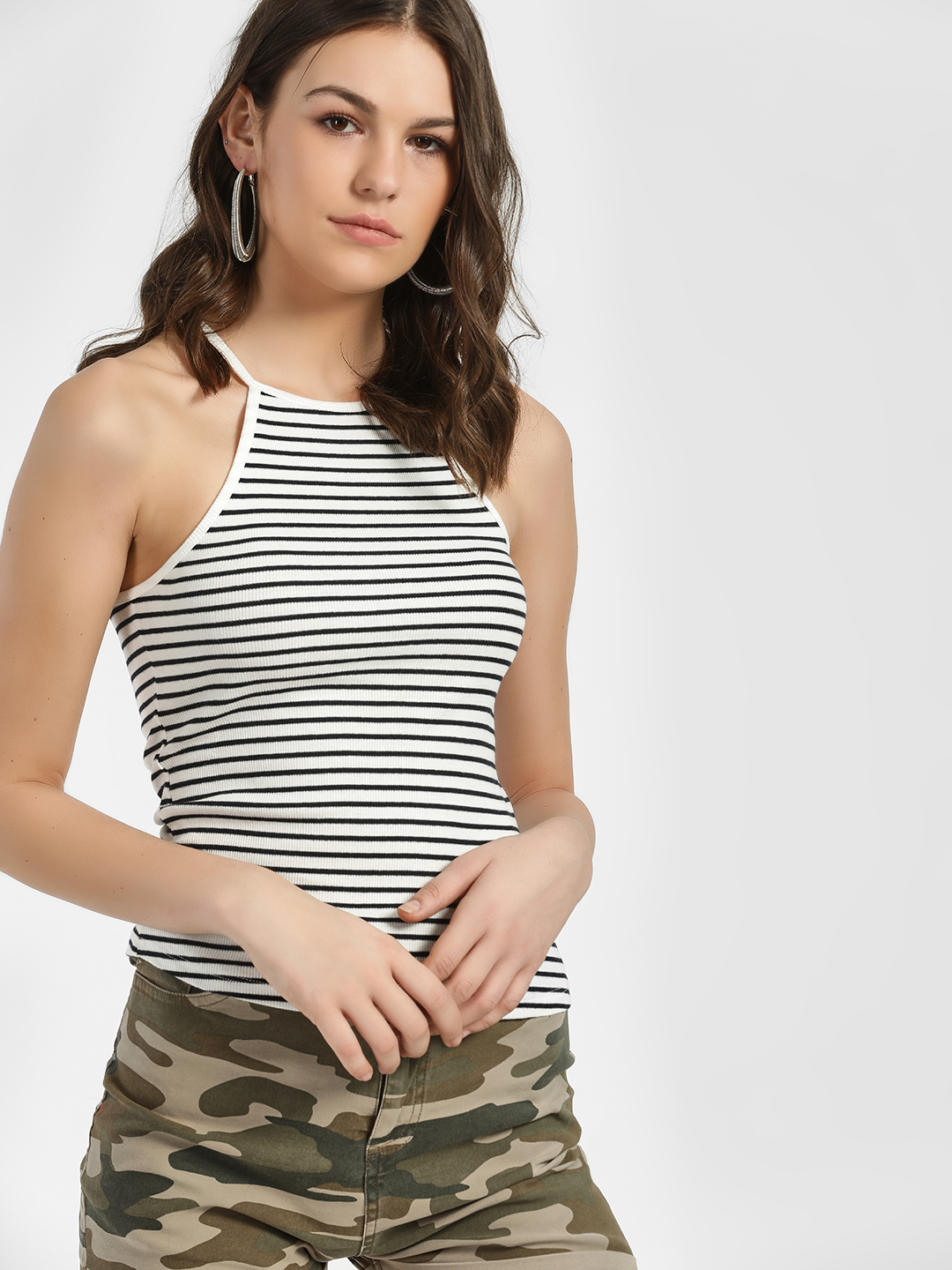 Only Multi Ribbed Racerback Cami Top 1