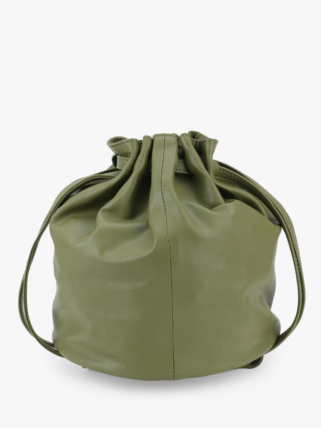 Paris Belle Green Pleated Bucket Sling Bag 1