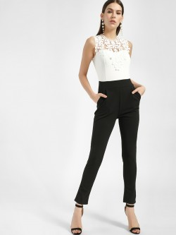 Quiz Colour Block Lace Detail Jumpsuit