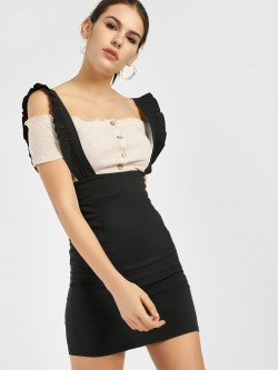 Quiz Frill Detail Pinafore Dress