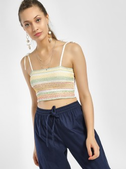 Glamorous Smocked Crop Top