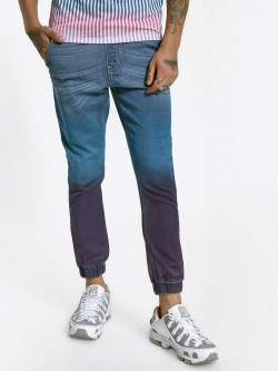 K Denim KOOVS Tie & Dye Denim Joggers