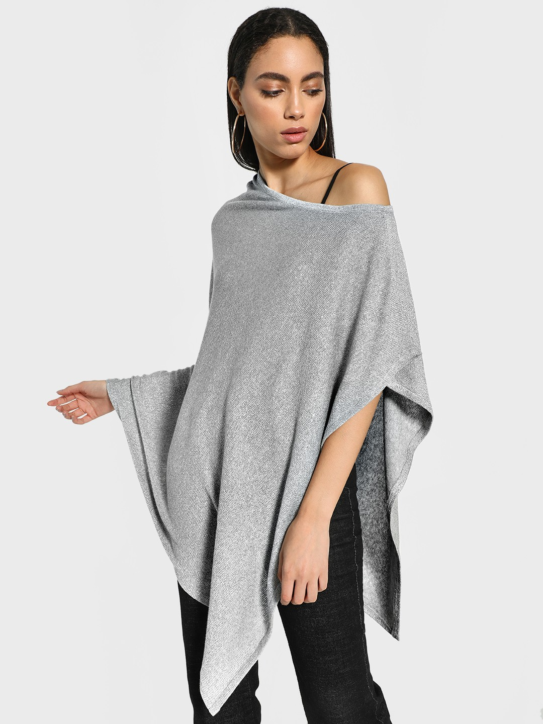 Akiva Silver All Over Shimmer Cape 1