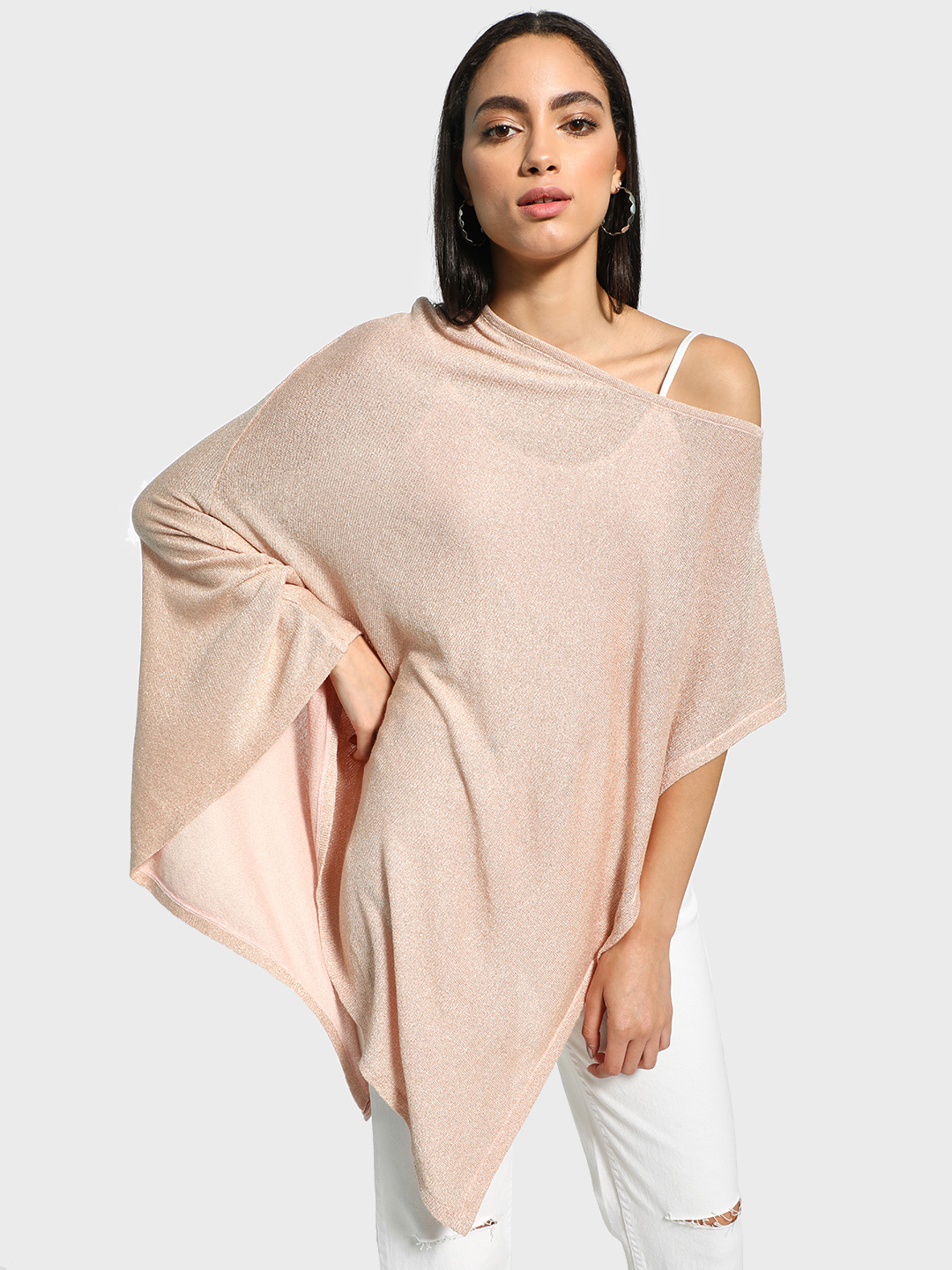Akiva Pink All Over Shimmer Cape 1
