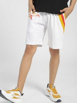 Tiktauli Flame Stripe Placement Print Shorts