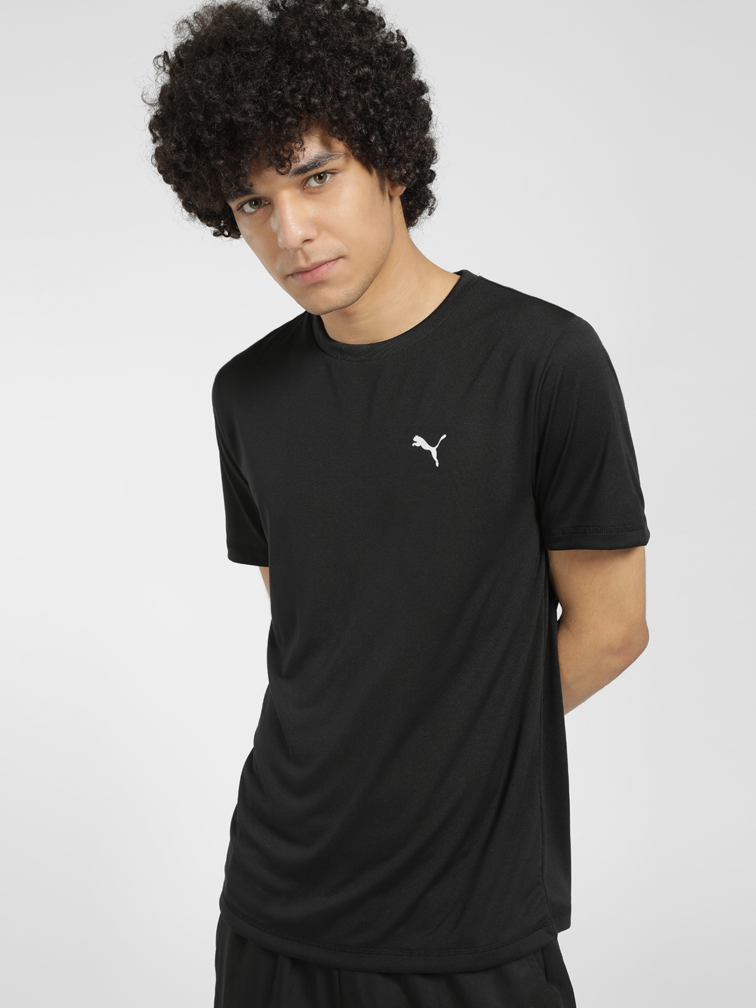 Puma Black Basic T-Shirt 1
