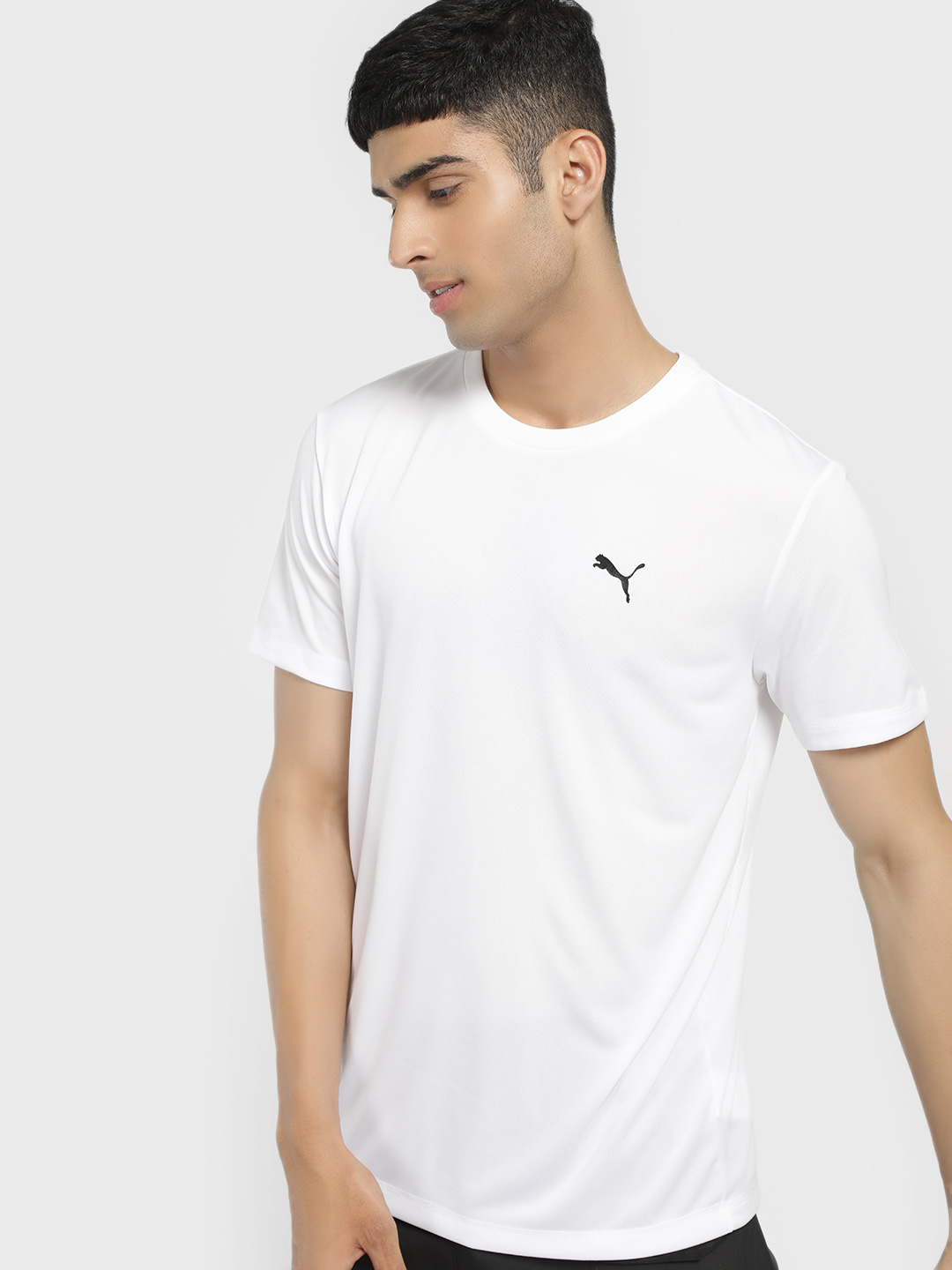 Puma White Active Logo T-Shirt 1