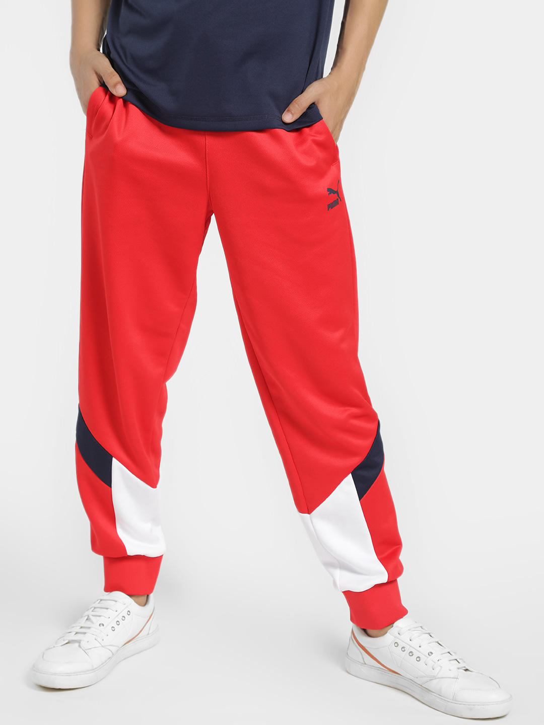 Puma Red Iconic MCS Track Pants 1
