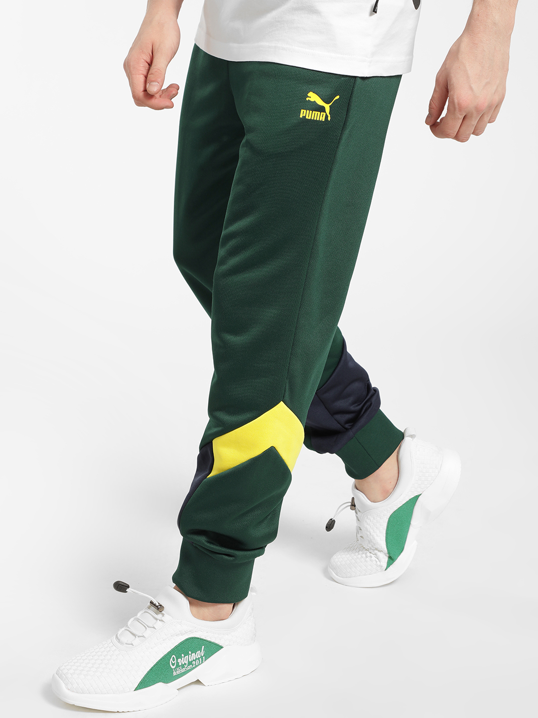 Puma Green Iconic MCS Track Pants 1