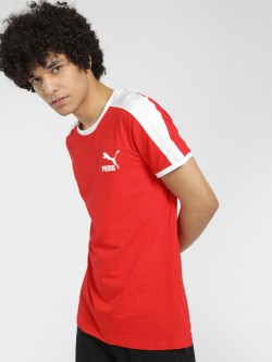 Puma Contrast Shoulder Stripe T-Shirt