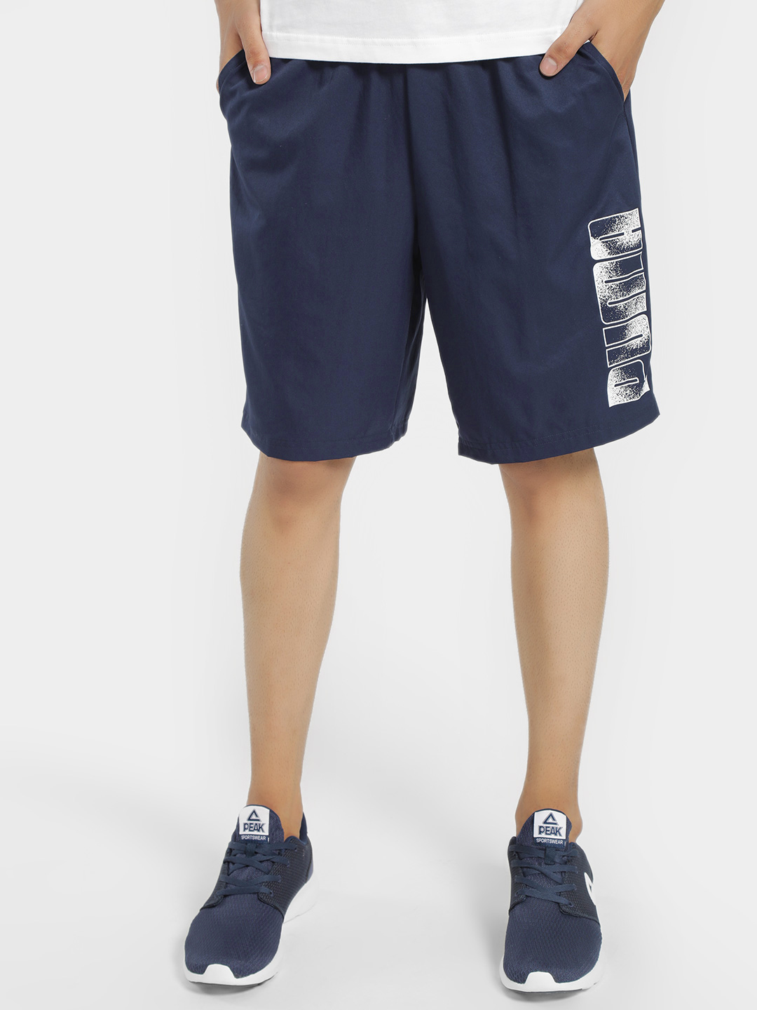 Puma Blue Graphic Rubber Print Logo Shorts 1
