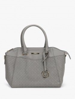 Ceriz Textured Charm Detail Handbag
