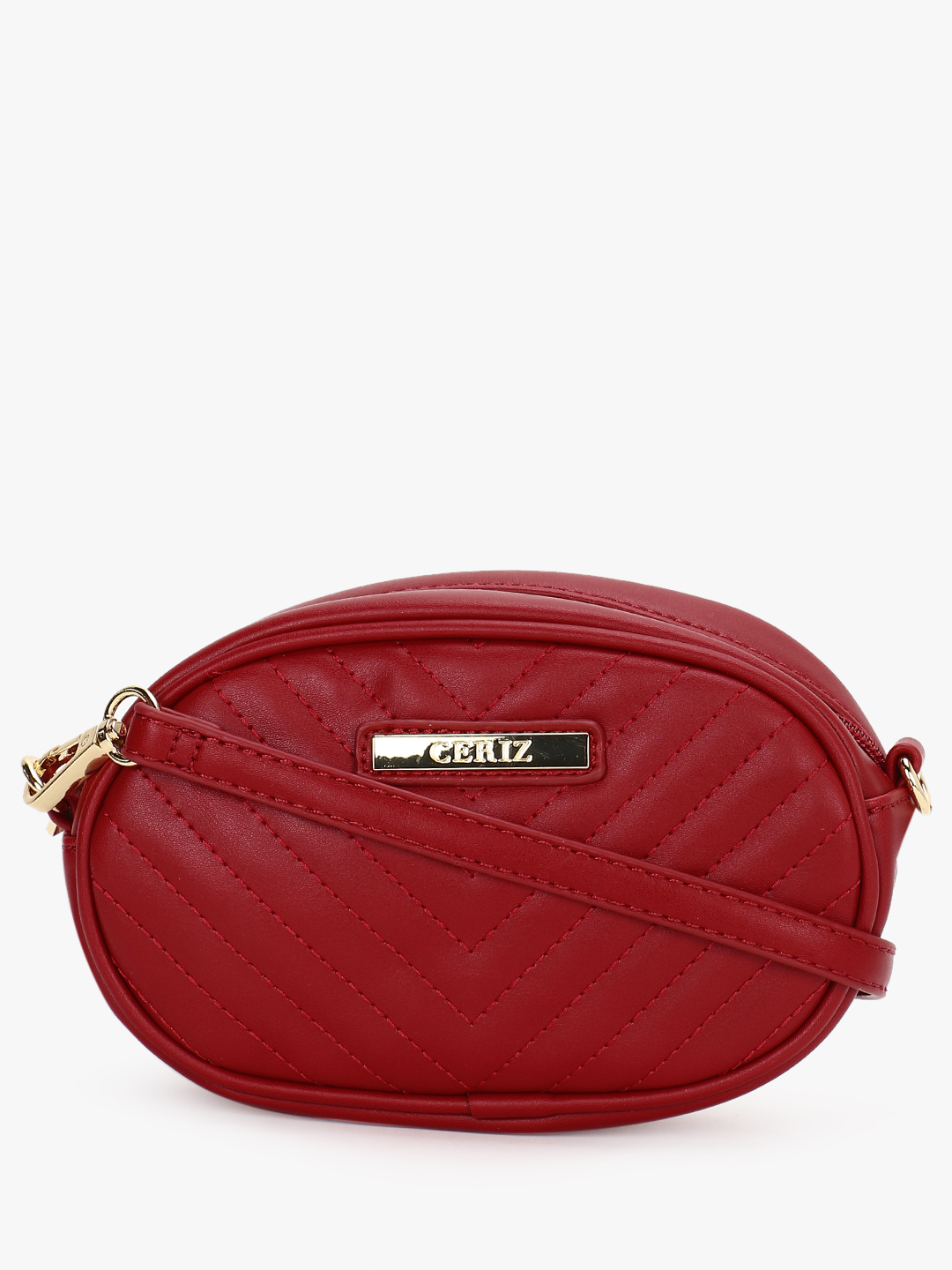 Ceriz Red Quilted Bum Sling Bag 1