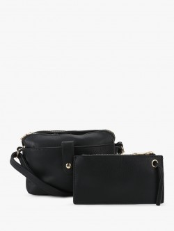 People Double Zip Sling Bag
